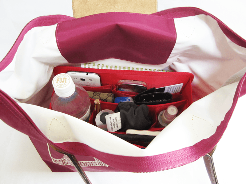 best bag organizer for longchamp cloversac. Black Bedroom Furniture Sets. Home Design Ideas