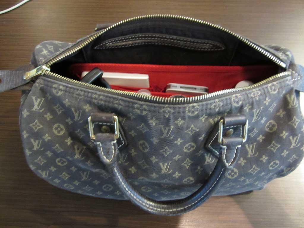 purse organizer insert for louis vuitton speedy 30 monogram mini lin  photo
