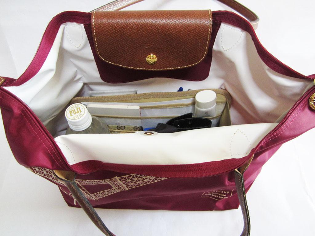 purse organizer insert for longchamp le pliage large long handle 1899 photo cloversac. Black Bedroom Furniture Sets. Home Design Ideas
